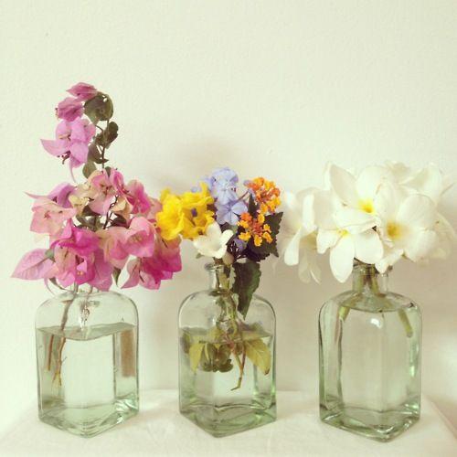 Pretty Glass Vases Flowers Decor Pinterest