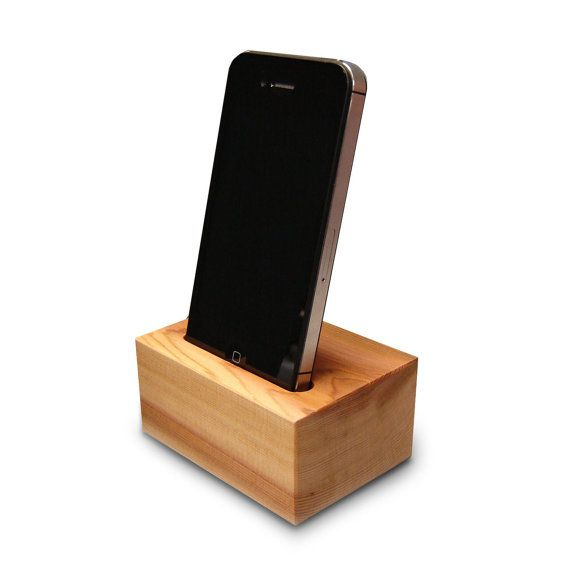 Wood Iphone Dock Station In Western Red Cedar By Andrewsreclaimed 27 00