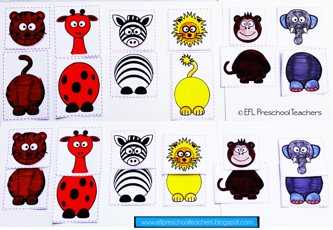 Esl Zoo Animal Worksheets Animal Bo S To Match Up You