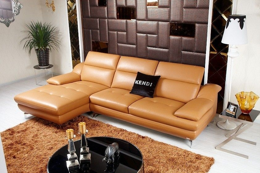 k8392 modern khaki ecoleather sectional sofa  sectional