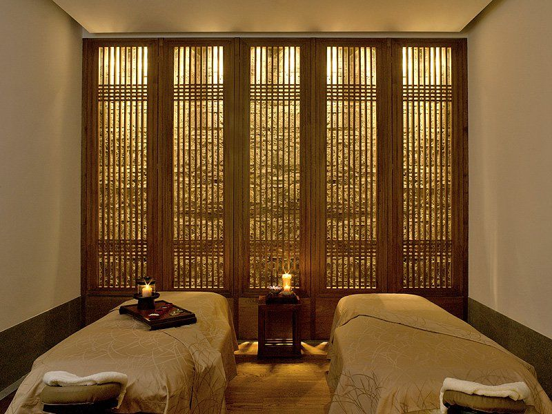 The Aman Spa Treatment Room, Summer Palace   Beijing, China WOODEN BLINDS