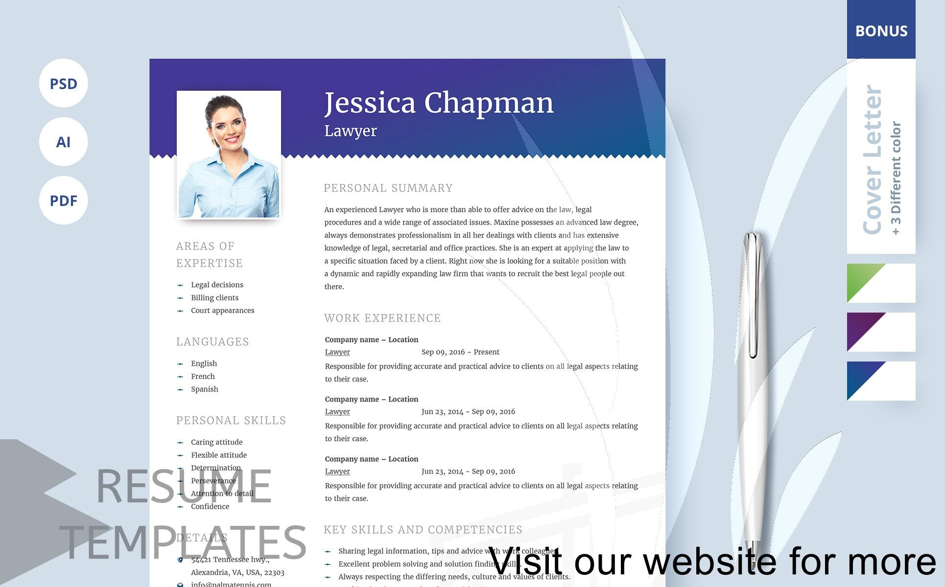 resume template psd file free download in 2020 Resume