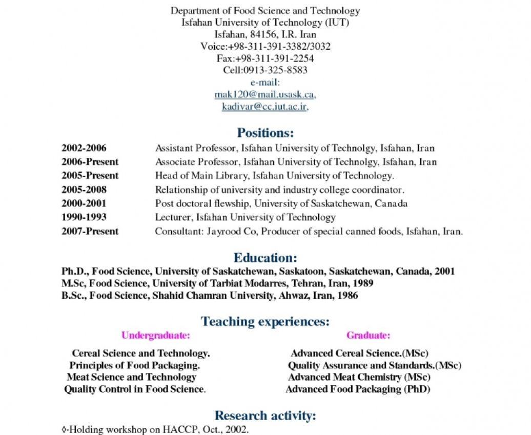 A Curriculum Vitae Define Modelos de curriculum vitae