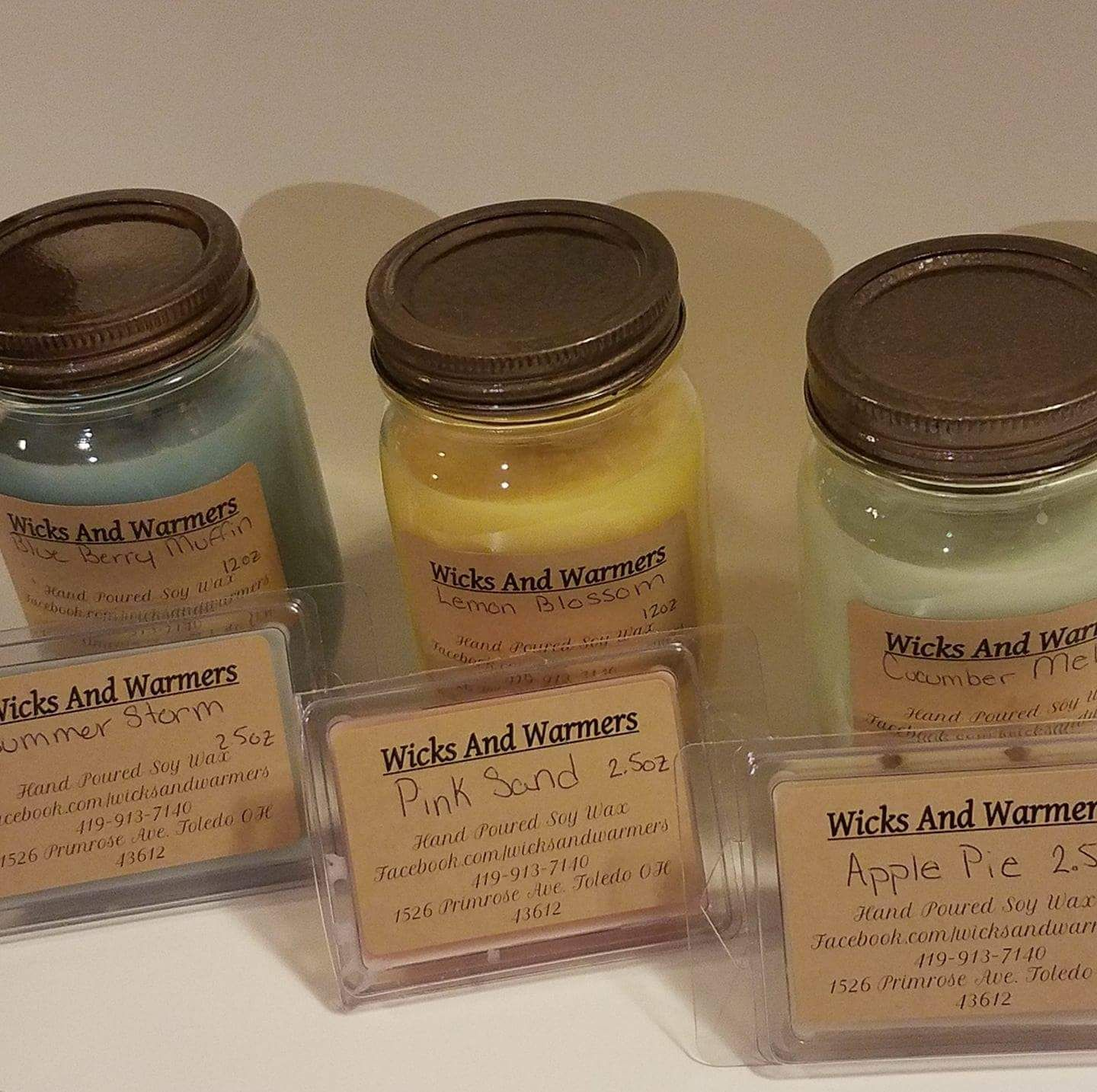Highly Scented All Natural Soy Wax Candles