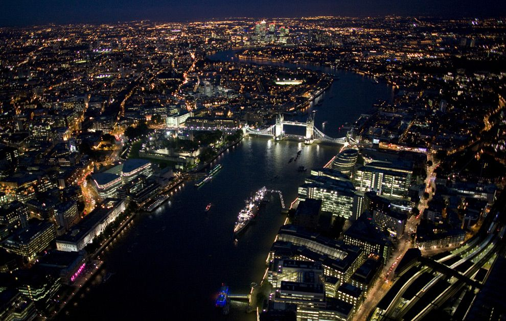 London From Above At Night London Tourist Guide London Hotels London Night