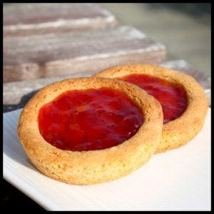 tartelettes à la fraise en mode palets bretons | Mini ...