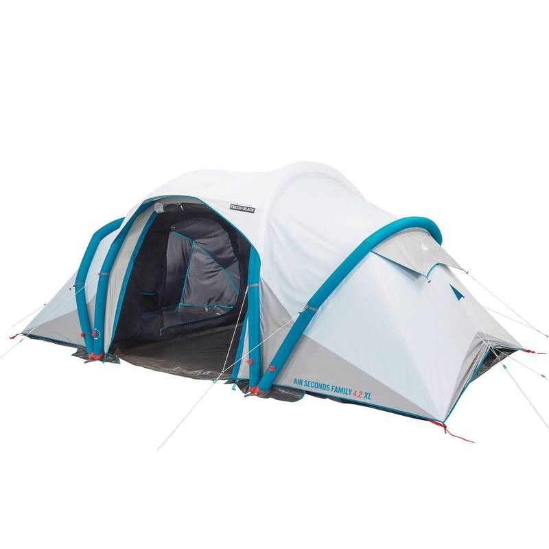 Inflatable Camping Tent Air Seconds 4 2 Fresh Black 4 Persons 2 Bedrooms Family Tent Camping Tent Air Tent