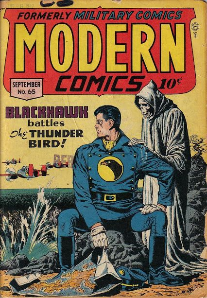 Modern Comics #65 (Sep '47) cover by Reed Crandall.