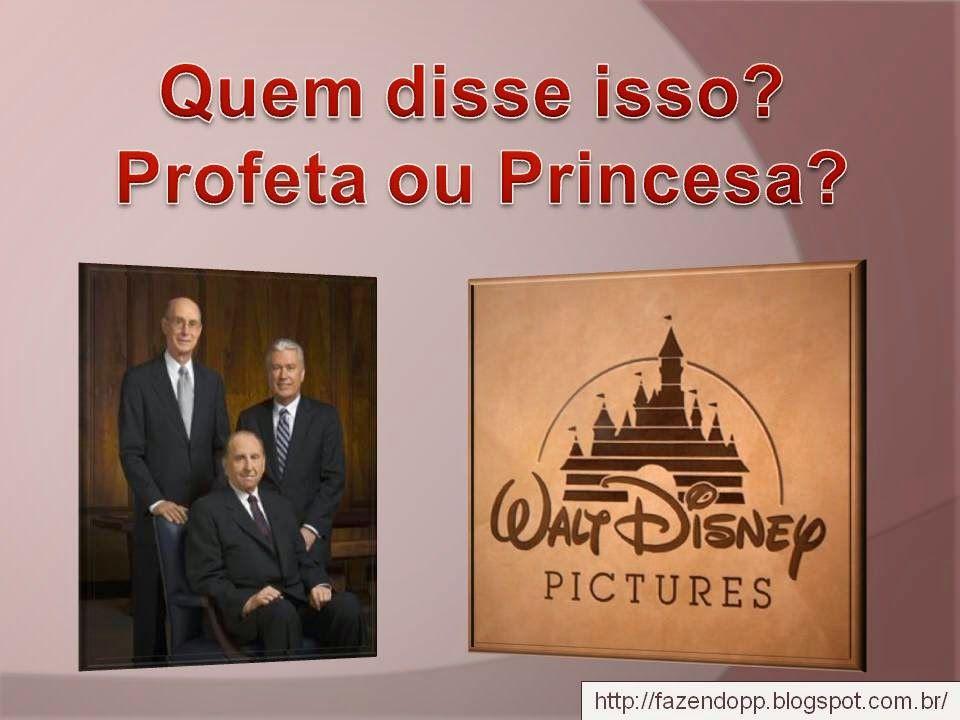 . Fazendo meu Progresso Pessoal: Quem disse isso? Profeta ou Princesa?