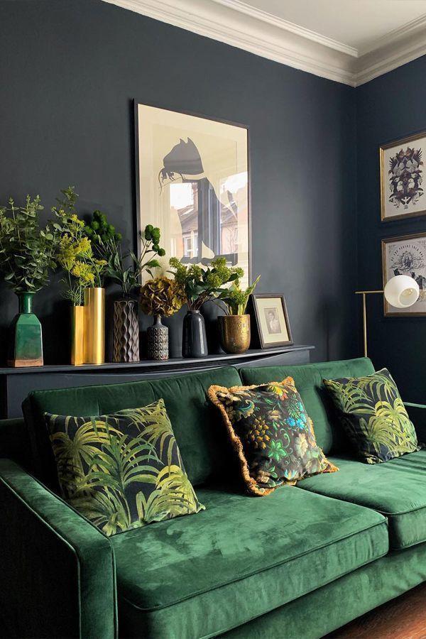 Photo of PALMERAL Large Velvet Cushion Mitternacht / Grün [Credit: @houselust via Insta… – New Ideas