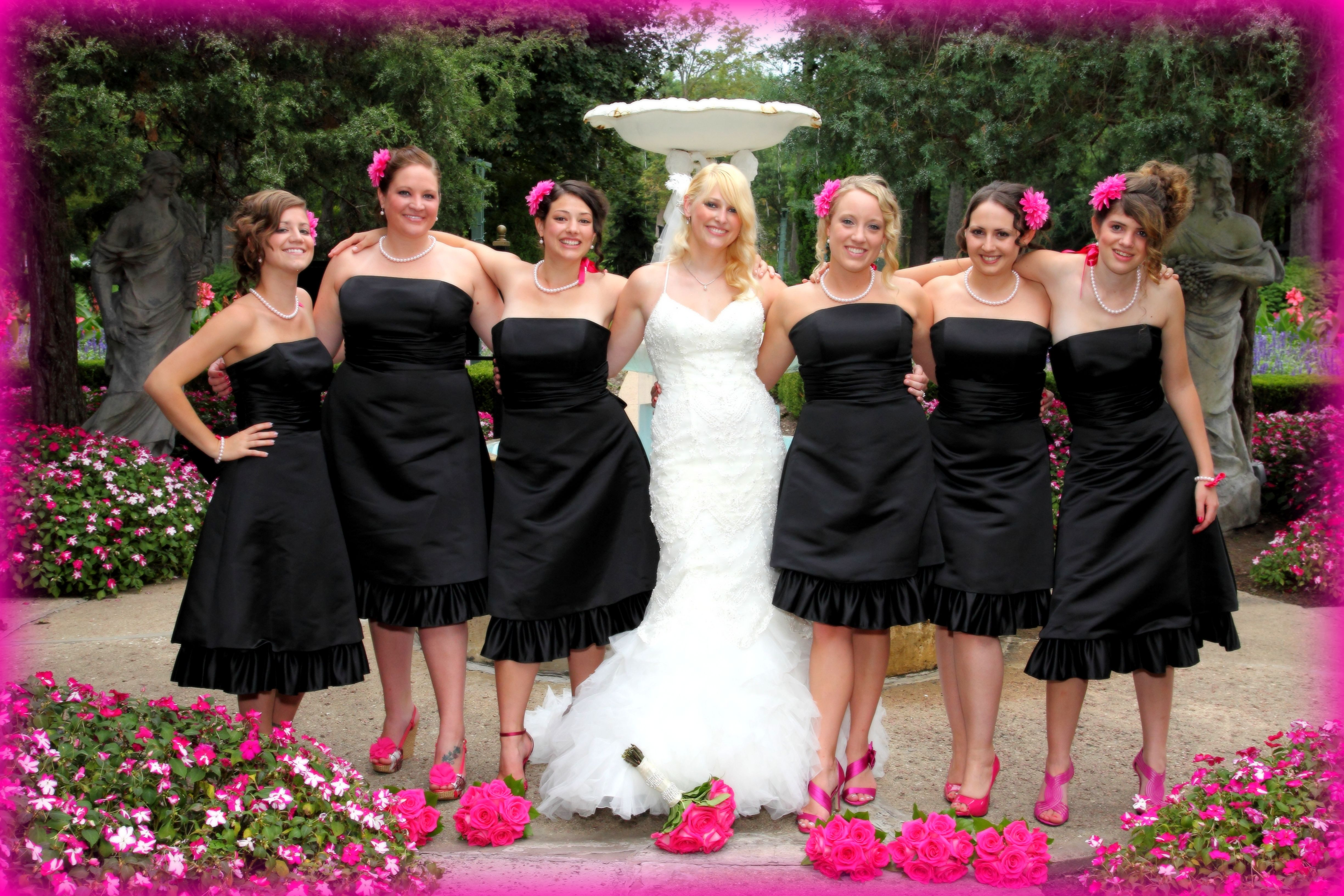 Like How They Have The Plain Black Dress With Pink Shoes And Flower Black Plain Dress Cute Wedding Ideas Black Wedding [ 3265 x 4898 Pixel ]