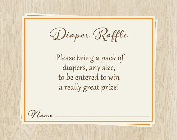 Checkout our other diaper raffle tickets: