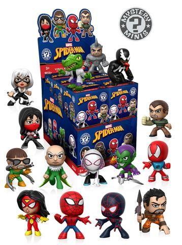 Classic Spider Man Mystery Mini Figures By Funko Regular Case Assortment Mystery Minis Funko Mystery Minis Funko Spiderman