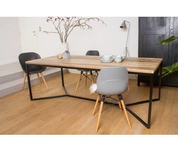 'Farstad' industrieller Bauholz Tisch/ Untergestell aus