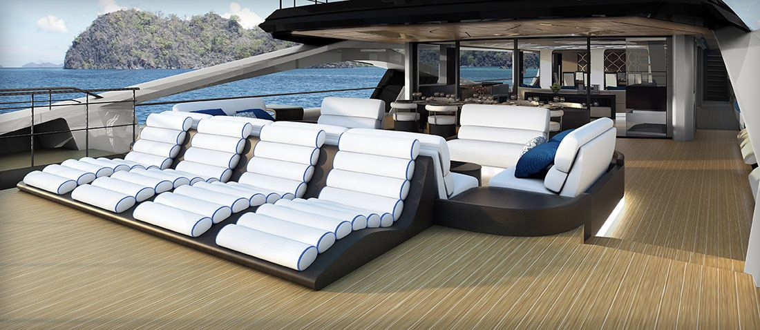 Le 48M SuperSport un yacht exceptionnel Fibre de