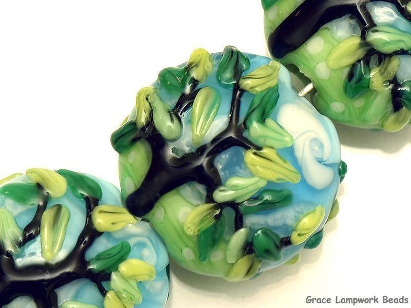 grace lampwork beads artisan handmade glass beads sra four summer tr