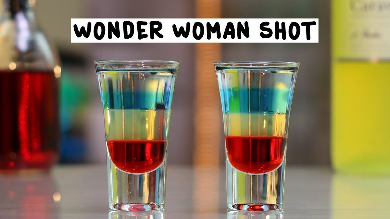 Wonder Woman Shot #raspberryvodka WONDER WOMAN Grenadine Limoncello Blue Raspberry Vodka Peach Vodka PREPARATION 1. Pour grenadine into the base of a shot glass and use the back of a spoon to layer on limoncello. 2. Layer on blue raspberry vodka and top with a layer of peach vodka. DRINK RESPONSIBLY! #raspberryvodka