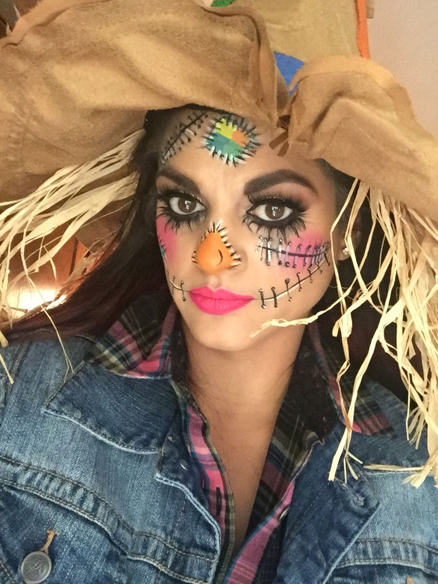 Halloween scarecrow makeup. Pic without yellow contacts ...