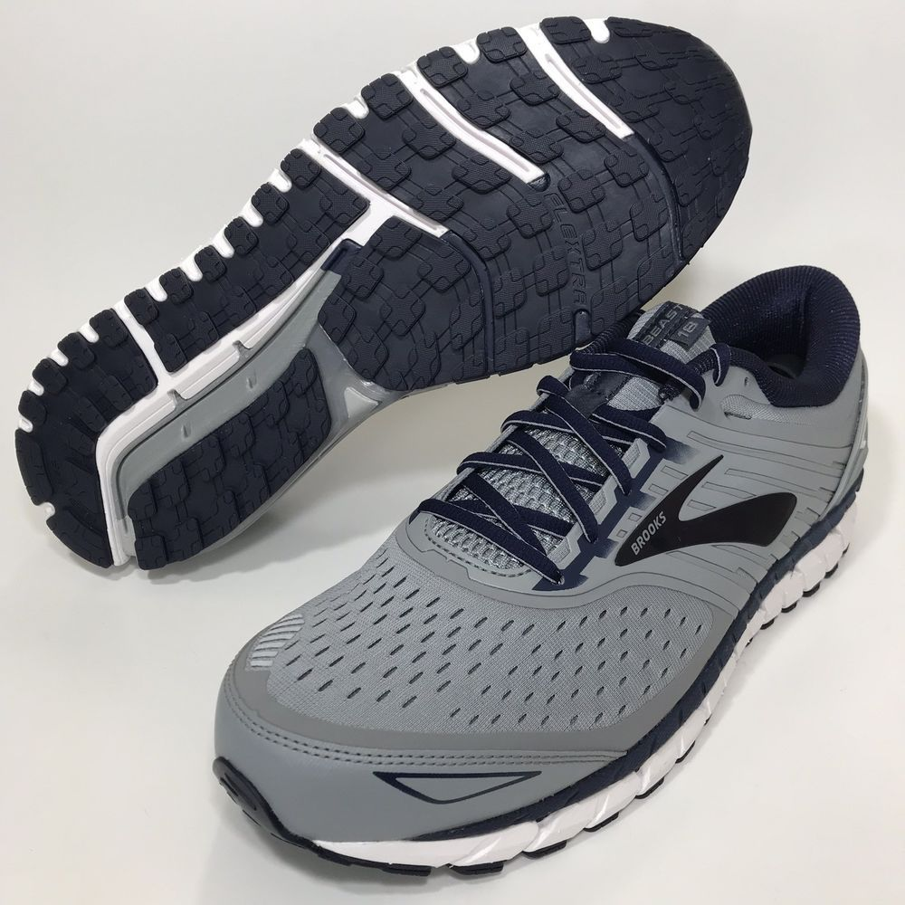 188dd64c099 Brooks Beast 18 Wide 2E Grey Navy White Running Shoe Mens 13  fashion   clothing  shoes  accessories  mensshoes  athleticshoes (ebay link)