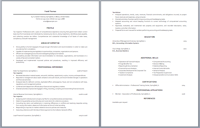 Junior Tax Accountant Resume | Accounting Resume Samples ...