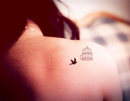 Single Bird Tiny Tattoos Free Bird Tattoo Freedom Tattoos