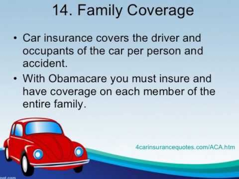 Car Insurance How Obamacare Ppaca Differs From Car Insurance