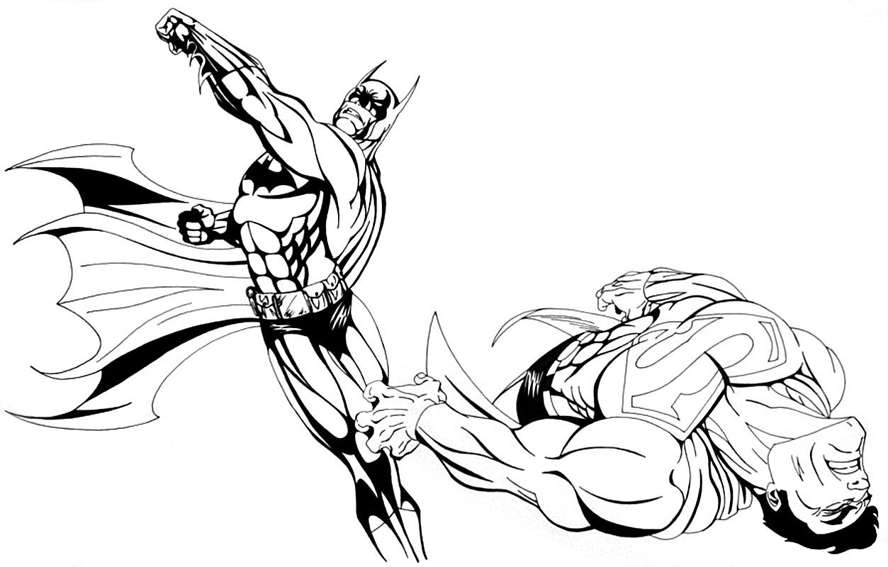 Baman V Superman Coloring Pages - Coloring Pages Ideas