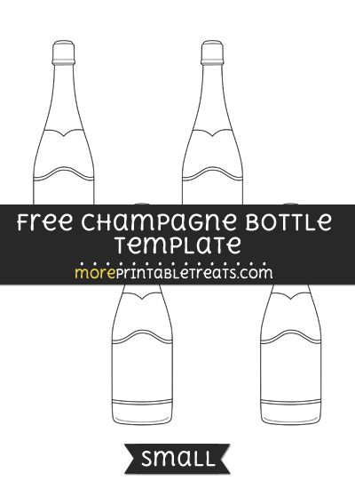 Free Champagne Bottle Template - Small | Shapes and Templates ...