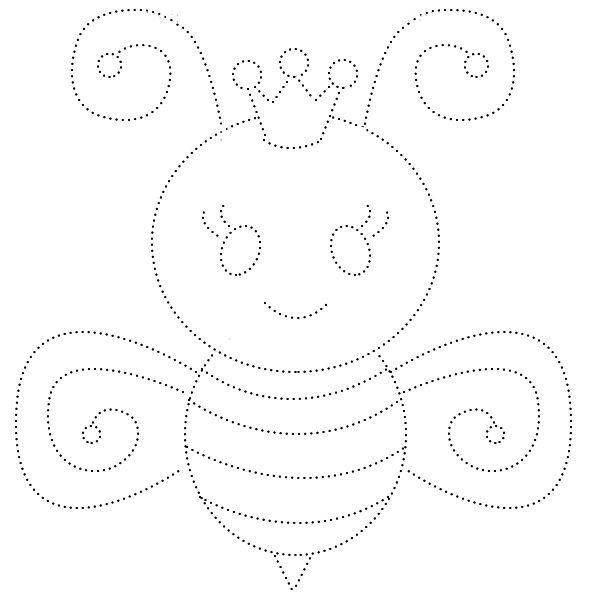 Раскраски - обводилки с насекомыми | Desenhos