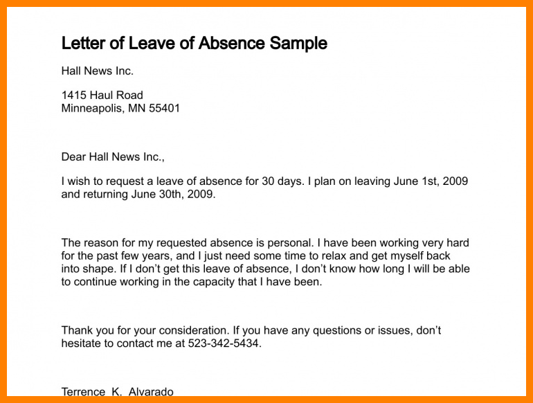 How write absence letter for school leave request lettersample how write absence letter for school leave request lettersample sample formal from work thecheapjerseys Images