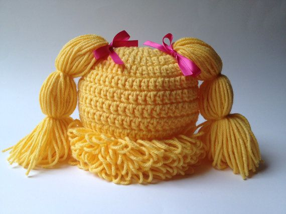 Cabbage Patch Hat, Cabbage patch costume, crochet cabbage patch ...