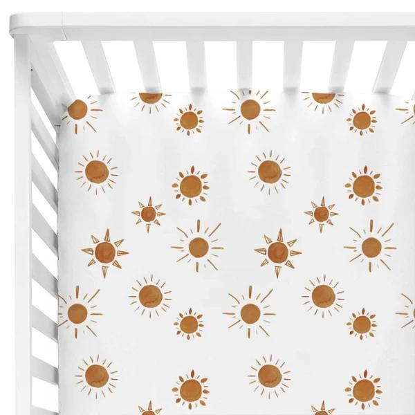 Desert Suns Crib Sheet In 2021 Boho Baby Nursery Boho Baby Bedding Floral Baby Bedding