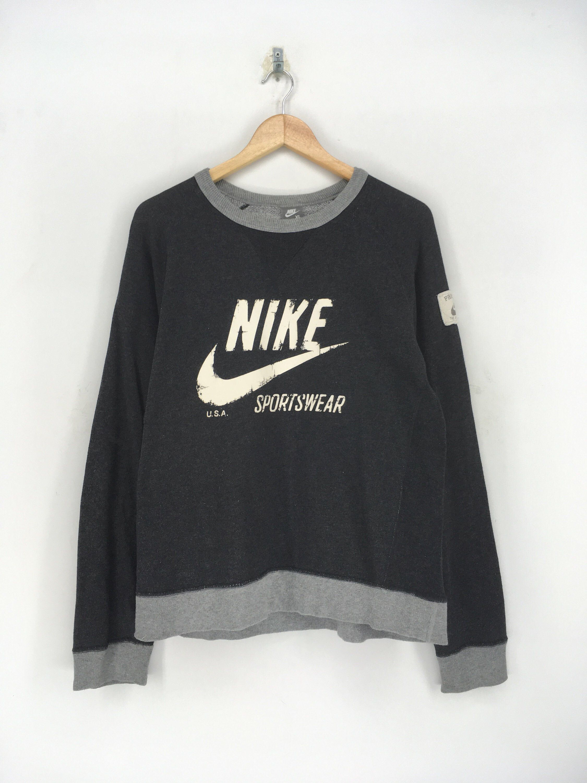 Excited To Share The Latest Addition To My Etsy Shop Nike Big Swoosh Crewneck Sweatshirt Large V Vintage Nike Sweatshirt Adidas Crop Sweater Black Tee Shirts [ 3000 x 2250 Pixel ]