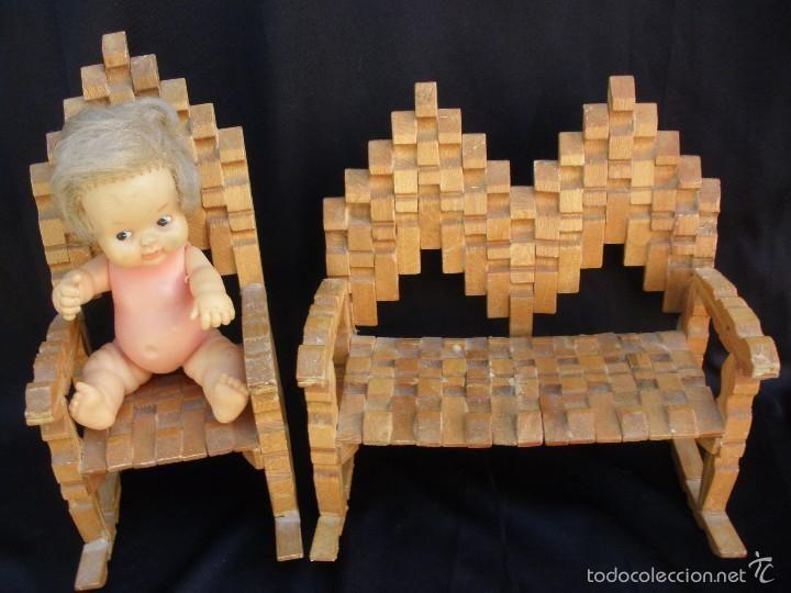 Original sofa y mecedora de juguete realizados con pinzas de madera artesan a mis mu ecas a os - Sofa mecedora ...