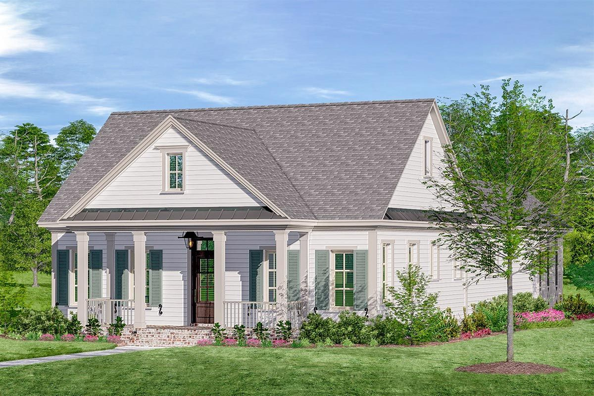 Plan 510061wdy One Story Country Cottage With Screen Porches In Back House Plans Farmhouse Cottage Architectural Design House Plans