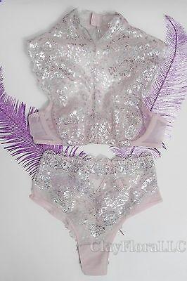 218254309 Victoria 39 s Secret Dream Angels Metallic High-neck Bra set high-waist  thong pink