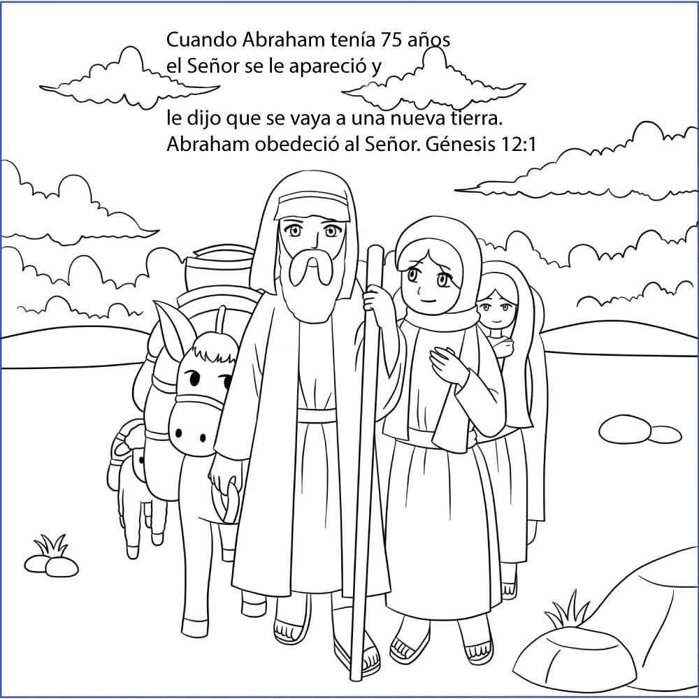 Non English Gospel Tracts Abraham And Sarah Story Of Abraham Bible Coloring Pages