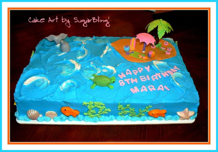 teen birthday cakes ocean themed 12 girls cake made for a little