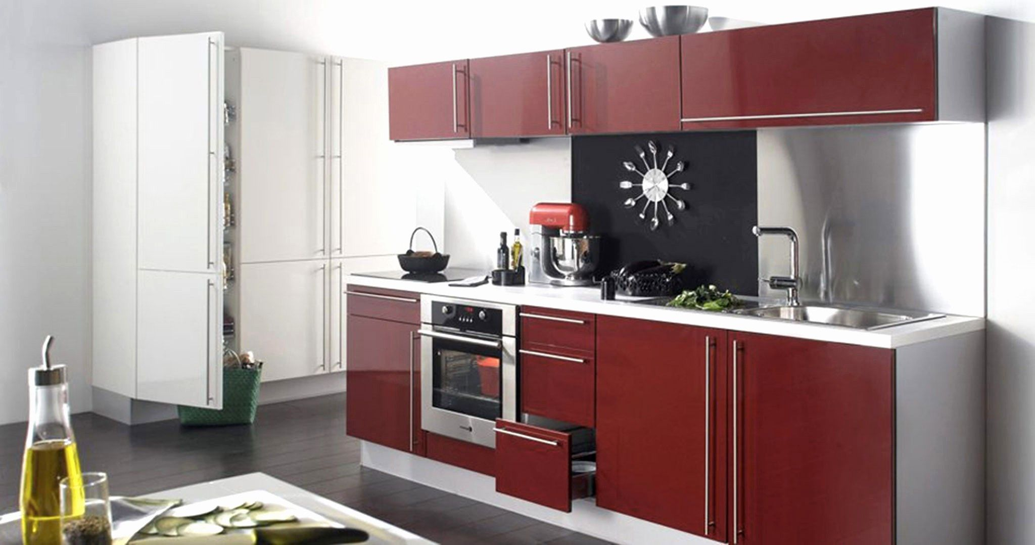 Beau Cuisine Equipee Avec Electromenager Leroy Merlin In 2020 Tiny House Kitchen Home Kitchens Kitchen