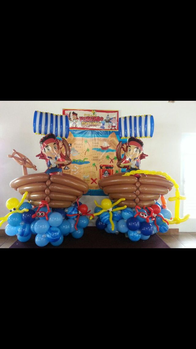 Jake and the Never Land Pirates theme Balloon Decoration