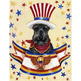 Precious Pet Paintings 3 33 Ft X 2 33 Ft Scottish Terrier 4th Of July Schnauzer Art Dog Flag Beloved Dog