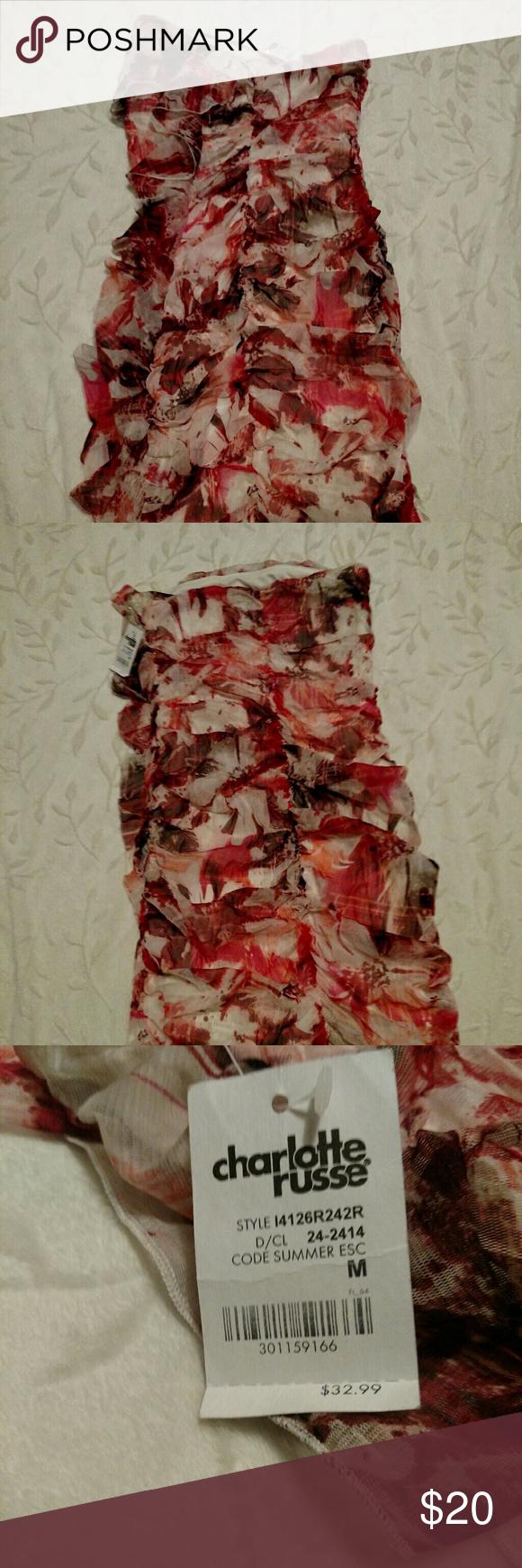 CHARLOTTE RUSSE SUMMER DRESS Cute NWT Charlotte Russe dress. Size medium. Very tiny! Charlotte Russe Dresses