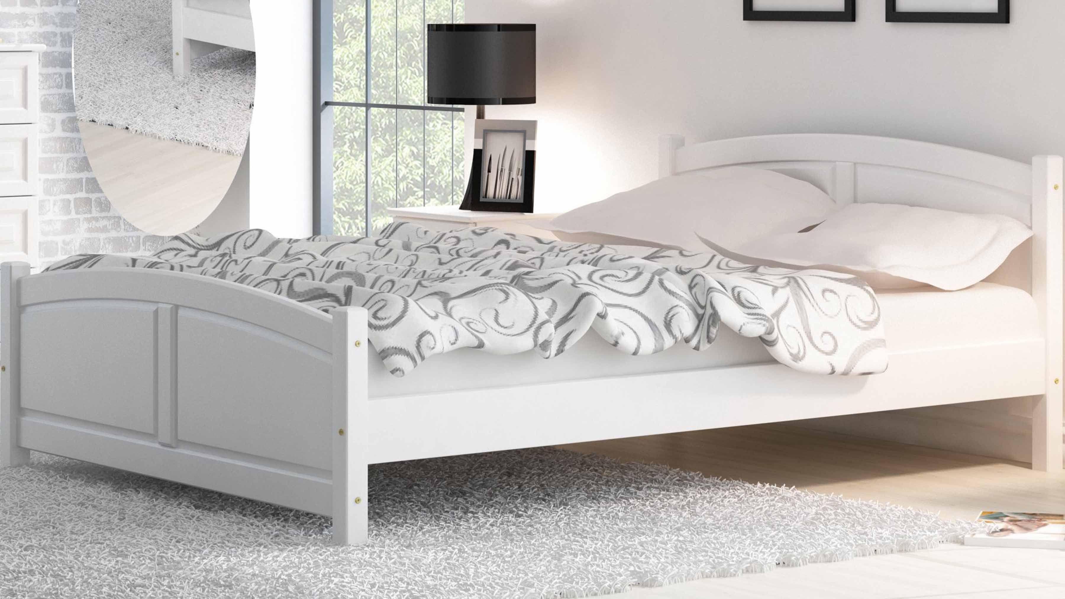 Das Bett Aus Eiche Bringt Die Warme In Der Schlafzimmer Und Wird