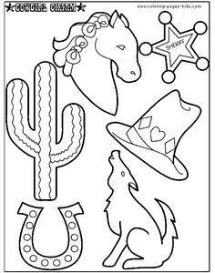 Cowboy Coloring Pages For Children Cowboy Color Page Coloring Pages Color Plate Coloring Sheet Wild West Crafts Western Crafts Cowboy Crafts