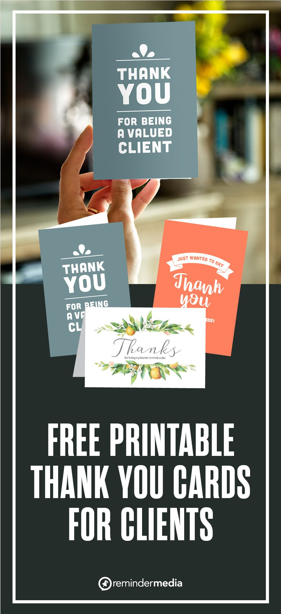 Thank You Cards Printable