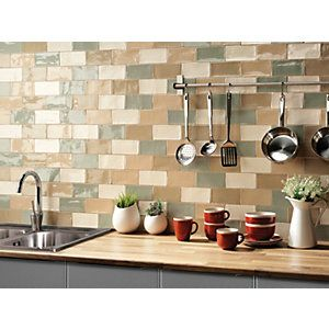 We Love The Simple Rustic Look Of Wickes Cotswold Wall Tile Bianco