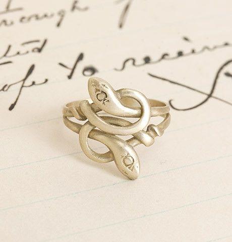 Snakey Ring, in Brass, $95.