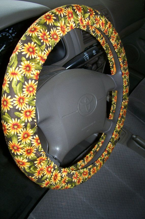 Pleasing Daisy Steering Wheel Cover By Embellishmepattyv On Etsy Andrewgaddart Wooden Chair Designs For Living Room Andrewgaddartcom