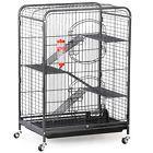 37 4 Level Indoor Ferret Cage Animal Habitat Guinea Pig w/Stand Feeder Black