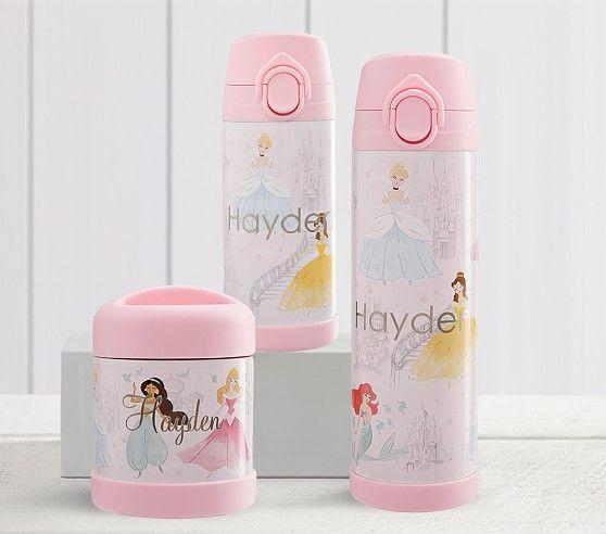 Mackenzie Disney Princess Castle Water Bottles Pottery